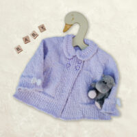 Bunnykids Knitted Coat for 6 to 12 months – top down knitting pattern