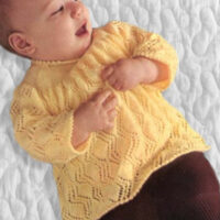 Lace Knitting Patterns for size 46 – 48 cm / 18 – 19 ins,  PDF Pattern, Sidar Snuggly, Baby Shower Gift