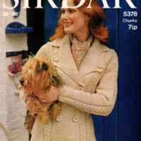 CHUNKY Ladies Chunky Blazer Jacket Coat in 4 sizes 32 to 40 inches PDF Knitting Pattern