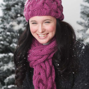 Chunky Cable Cap and scarf